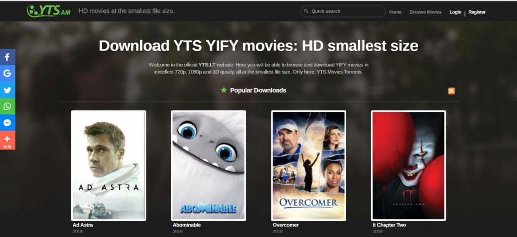 Yify Movies, Putlocker Alternative