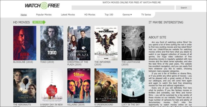 WatchFree, YesMovies alternative