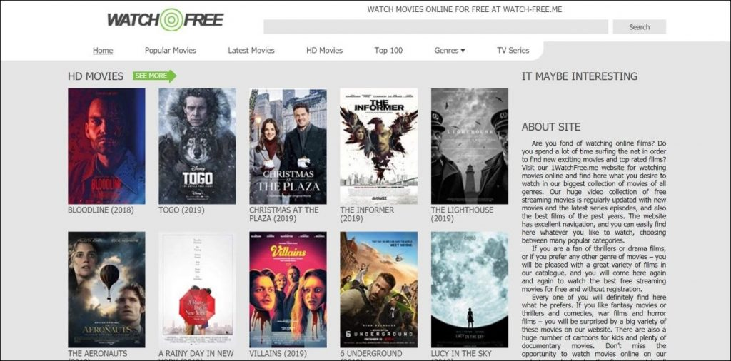 Watch Free, Los Movies alternatives