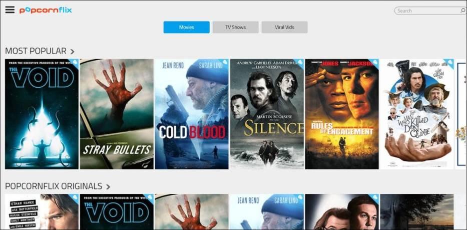 Popcornflix, Los movies alternative