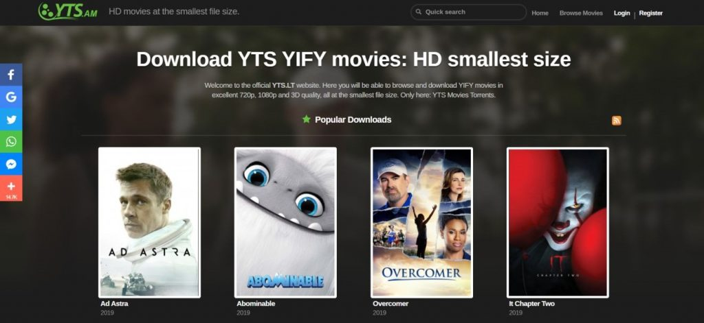 YTS Movies, XMovies Alternative