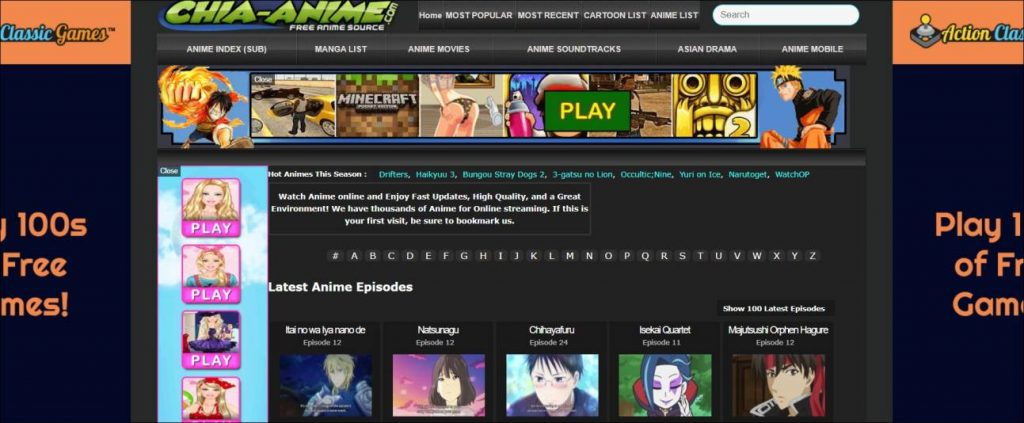 Chia Anime, Animeheaven alternatives