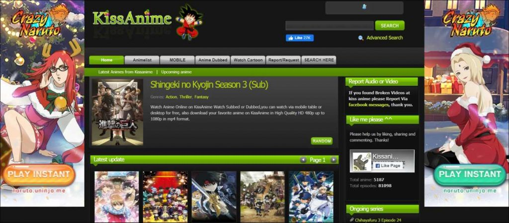 Kissanime, best anime streaming sites