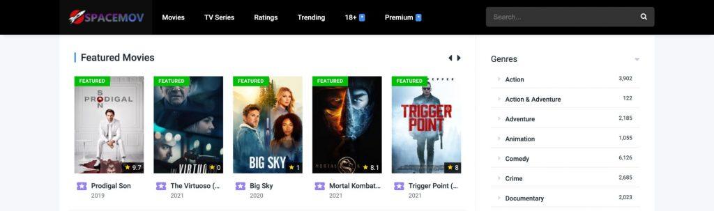 Spacemov, free online movie streaming sites