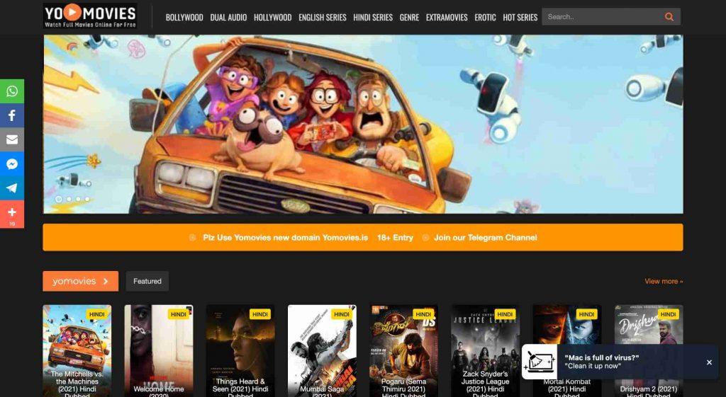YoMovies., best free online movie streaming sties